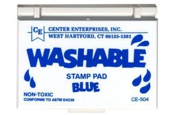(blue) - centre ENTERPRISES CE-504 STAMP PAD WASHABLE BLUE