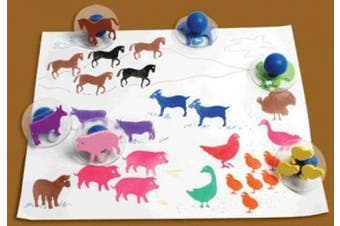 Centre Enterprises Ready2Learn Giant Stampers farm animals set