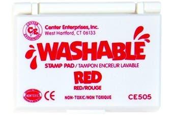 (24) - CENTER ENTERPRISES CE-505 STAMP PAD WASHABLE RED