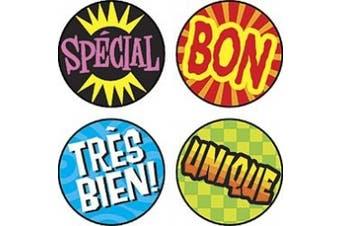 Les mots d'eloge (French Praisers) superSpots® Stickers