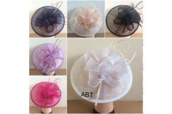 (Black) - Large Headband and Clip Hat Fascinator Weddings Ladies Day Race Royal Ascot