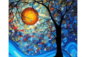 (No Frame, Dream Tree) - ABEUTY DIY Paint by Numbers for Adults Beginner - Dream Tree Van Gogh Moon Night 41cm x 50cm Number Painting Anti Stress Toys (No Frame)