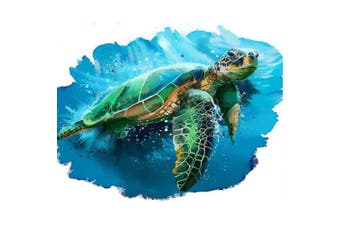(Wooden Framed, Turtle 2) - ABEUTY DIY Paint by Numbers for Adults Beginner -Green Turtle Animal 41cm x 50cm Number Painting Anti Stress Toys (Wooden Framed)