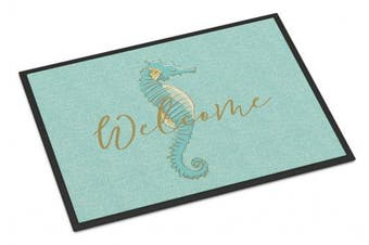 (Seahorse Welcome, 18 x 27) - Caroline's Treasures Seahorse Welcome Doormat 46cm x 70cm Multicolor