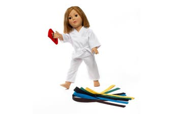 Fits American Girl Doll Karate Outfit - 46cm Doll Clothes/clothing Includes 46cm Acessories