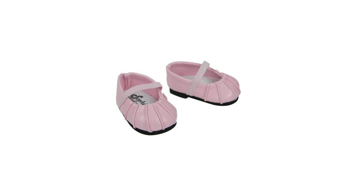 Baby Doll Shoes Fits Bitty Baby By American Girl Pink Ballerina Doll Flats Kogan Com
