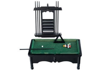 Dolls House Miniature 1:12 Pub Study Furniture Black Pool Snooker Table Set