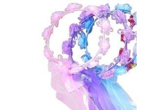 (Purple) - Purple Fairy Pixie Flower Halo