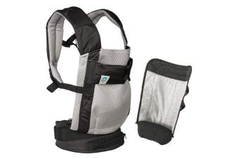 (Gray Carrier With Infant Insert) - Blooming Airpod Baby Carrier (Grey Carrier with Infant Insert)