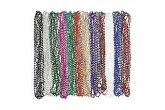 Metallic Beaded Necklaces (48 pc)