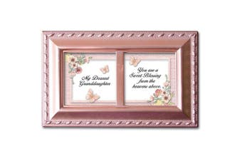 Cottage Garden Petite Music Box - Dearest Granddaughter Plays Light Up My Life With Pink Finish