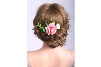 Deniferymakeup Blush Pink Peony Hair Comb Wedding Flower Hair Comb Soft Pink Peonies Hair Flower Comb Floral Hair Comb Blush Pink Wedding