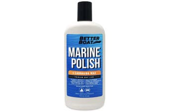 Boat Polish with Carnauba Wax for High Gloss Marine Fibreglass Metal Painted Surfaces and More Boats RV and Cars