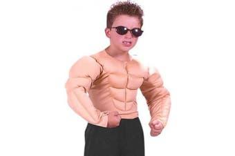 Boy's Muscle Chest Costume Shirt (Sz: Large 12-14)
