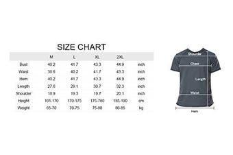 (Large, Navy) - Charmo Mens Sun Protection Swim Shirts Rash Guard Swim Tee Short Sleeve Swimwear