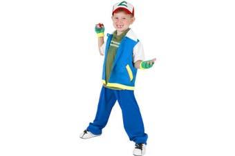(small4-7) - Child's Pokemon Ash Halloween Costume (Small 4-7)