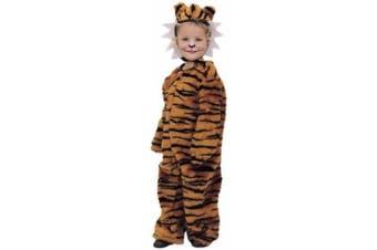 Childs Toddler Plush Tiger Halloween Costume (2-4T)