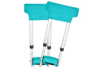 (Teal) - Vive Crutch Pads - Padding for Walking Arm Crutches - Universal Underarm Padded Forearm Handle Pillow Covers for Hand Grips - Soft Foam Armpit Bariatric Accessories for Adults, Kids (1 Teal Pair)