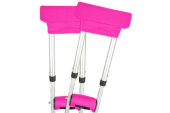 (Pink) - Vive Crutch Pads - Padding for Walking Arm Crutches - Universal Underarm Padded Forearm Handle Pillow Covers for Hand Grips - Soft Foam Armpit Bariatric Accessories for Adults, Kids (1 Pink Pair)