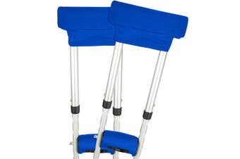 (Blue) - Vive Crutch Pads - Padding for Walking Arm Crutches - Universal Underarm Padded Forearm Handle Pillow Covers for Hand Grips - Soft Foam Armpit Bariatric Accessories for Adults, Kids (1 Blue Pair)