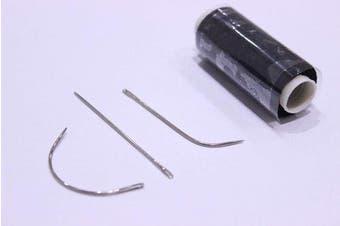 Black Hair Weaving Thread, 60M with C needle