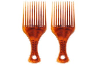 (2 Pcs) - BTYMS 2 Pcs Afro Comb Smooth Hair Pick Comb Lift Detangle Hair Comb African Hair Brush Hairdressing Styling Tool