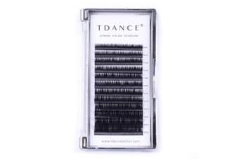 (8-15mm) - TDANCE Premium D Curl 0.18mm Thickness Semi Permanent Individual Eyelash Extensions Silk Volume Lashes Professional Salon Use Mixed 8-15mm Length In One Tray (D-0.18,8-15mm)