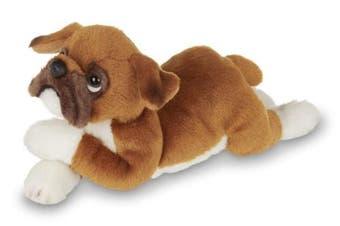 Bearington Lil' Roscoe Small Plush Boxer Stuffed Animal Puppy Dog, 20cm