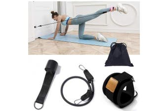 (black) - Price Xes Fitness Ankle Straps - Adjustable Leg Sleeves Home Gym Workout Heavy Duty Exercise Bands with Door Anchor - Enhance Legs Abs and Shaping Glutes, Lose Weight and Burn Fat Pulling Rope