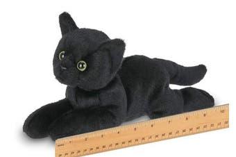 Bearington Small Plush Stuffed Animal Black Cat, Kitten 20cm