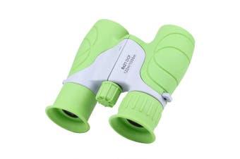 ANDSTON 8 x 21 Small Binoculars Compact for Adults Kids, Mini Binocular for Bird Watching Travelling Sightseeing, Lightweight Pocket Folding Binoculars for Concert Theatre Opera(Green)