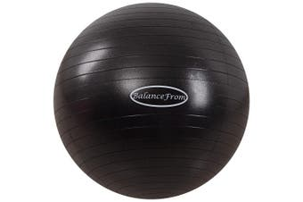 (78-85cm, XXL, Black) - BalanceFrom Anti-Burst and Slip Resistant Exercise Ball Yoga Ball Fitness Ball Birthing Ball with Quick Pump, 910kg Capacity