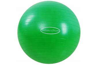(48-55cm, M, Green) - BalanceFrom Anti-Burst and Slip Resistant Exercise Ball Yoga Ball Fitness Ball Birthing Ball with Quick Pump, 910kg Capacity