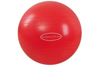 (38-45cm, S, Red) - BalanceFrom Anti-Burst and Slip Resistant Exercise Ball Yoga Ball Fitness Ball Birthing Ball with Quick Pump, 910kg Capacity