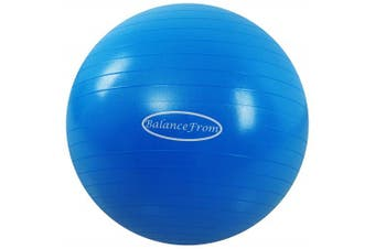(68-75cm, XL, Blue) - BalanceFrom Anti-Burst and Slip Resistant Exercise Ball Yoga Ball Fitness Ball Birthing Ball with Quick Pump, 910kg Capacity