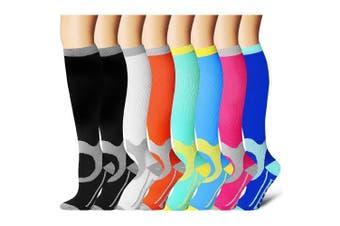 (Small/Medium, Assort 16) - Compression Socks for Women and Men - Best Athletic,Fitness Nursing, Edoema,Diabetic,Varicose Veins,Maternity,Travel,Flight Socks. Boost Performance Blood Circulation & Recovery