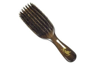 Royalty By Brush King Wave Brush #760-7 row Medium Wave Brush 360 - Great pull - From the makers of Torino Pro 360 Waves Brushes- 100% Boar Bristles