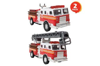"ArtCreativity 5.5"" Die Cast Fire Trucks (Set of 2) 