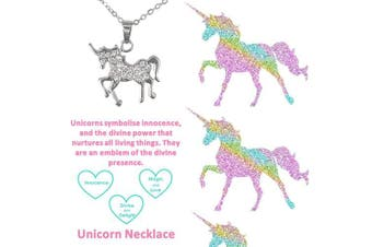 (Always Be a Unicorn Necklace) - Best friends Forever Mum Mother Silver Plated Necklace Memories Friendship Love Faith Hope Crystal Jewellery Gift Boxed