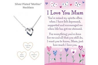 (I Love You Mum Necklace) - Best friends Forever Mum Mother Silver Plated Necklace Memories Friendship Love Faith Hope Crystal Jewellery Gift Boxed