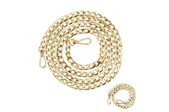 (51 & 38cm , Gold) - Purse Chain Strap - Replacement for Crossbody Bags and Handbags - 51 & 38cm Long, 2PCS, Gold, by Beaulegan