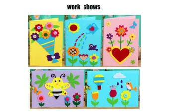 (5) - Card Making Kits DIY Handmade Greeting Card Kits for Kids, Christmas Card Folded Cards and Matching Envelopes Thank You Card Art Crafts Crafty Set Gifts for Girls Boys