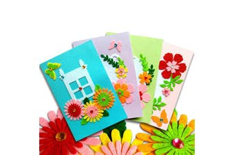 (3) - Card Making Kits DIY Handmade Greeting Card Kits for Kids, Christmas Card Folded Cards and Matching Envelopes Thank You Card Art Crafts Crafty Set Gifts for Girls Boys