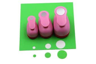 (Circle) - CADY Crafts Punch Set 8mm 15mm 25mm Paper Punches 3pcs/Set (Circle)