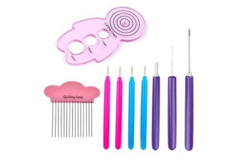 Asayu Quilling Tool Set, Diffrent Size Slotted Tools, 1 pcs Quilling Curling Coach Kit 1 pcs Quilling Comb