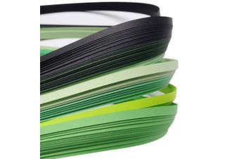 (green) - ARRICRAFT 10 Bags Green 6 Colours Quilling Paper Strips Gradual Colour for DIY Crafts Home Decoration, 390x3mm, About 120strips/bag, 20strips/Colour