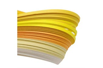 (yellow) - ARRICRAFT 10 Bags Yellow 6 Colours Quilling Paper Strips Gradual Colour for DIY Crafts Home Decoration, 390x3mm, About 120strips/bag, 20strips/Colour