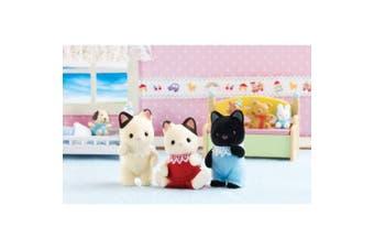 (Tuxedo Cat Triplets) - Calico Critters Tuxedo Cat Triplets