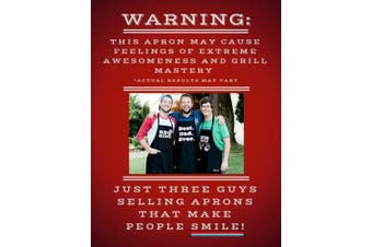 (Gray Apron) - BBQ Grill Apron - Super Dad - Funny Apron for Dad - 1 Size Fits All Chef Apron Cotton 4 Utility Pockets, Adjustable Neck and Extra Long Waist Ties - Grey Colour