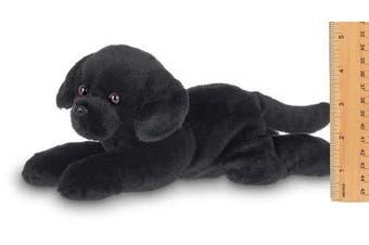 Bearington Lil' Jet Small Plush Black Labrador Retriever Stuffed Animal Puppy Dog, 20cm